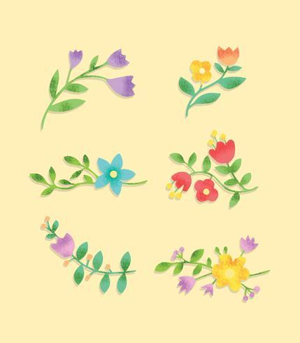 Gratis texturerad blommor vektor