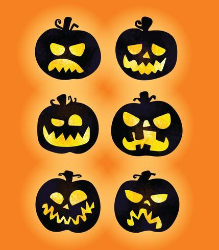 Vector de calabazas de halloween de miedo gratis - Calabazas de halloween de miedo ...