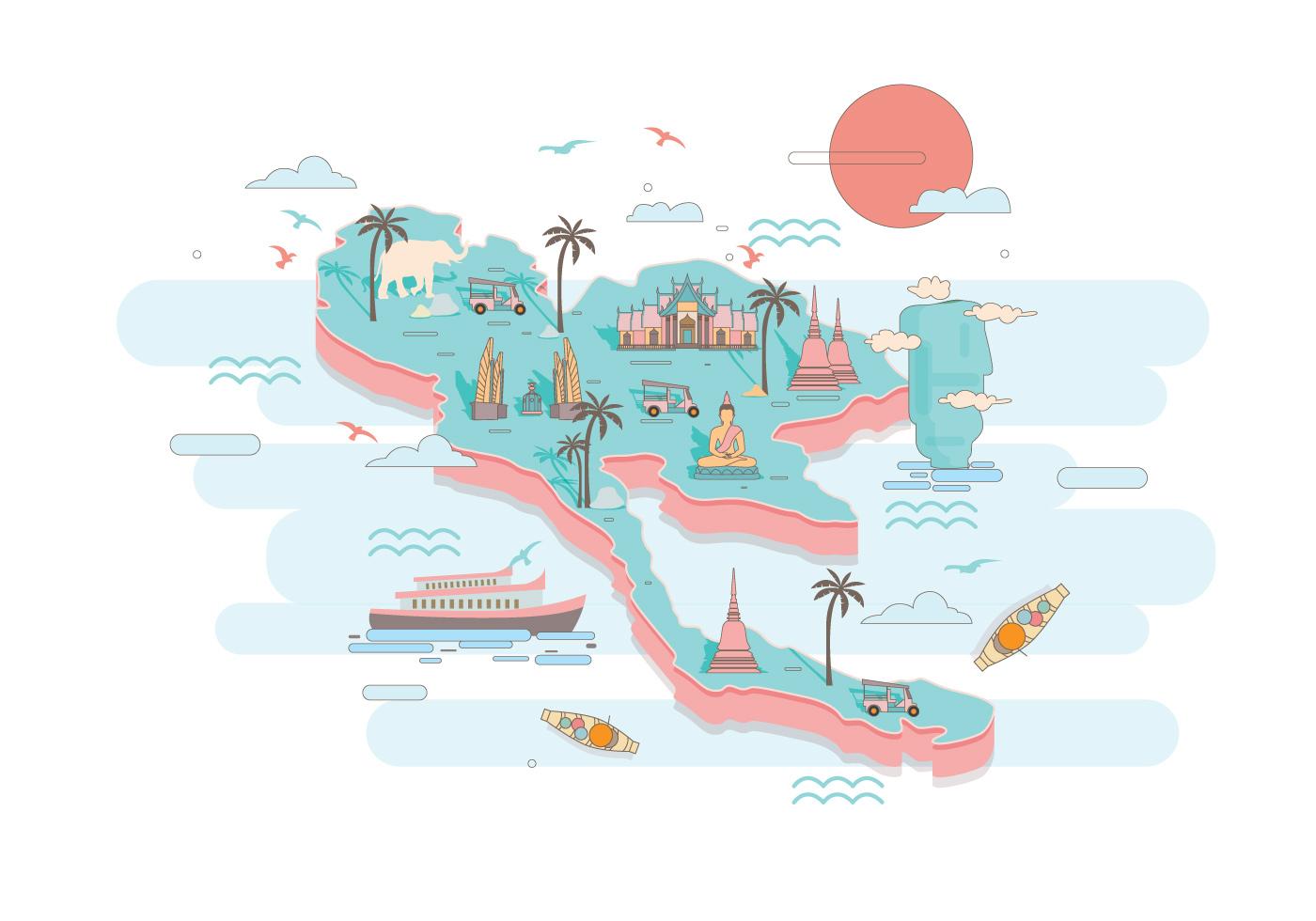 Thailand Map Free Vector Art - (42 Free Downloads)