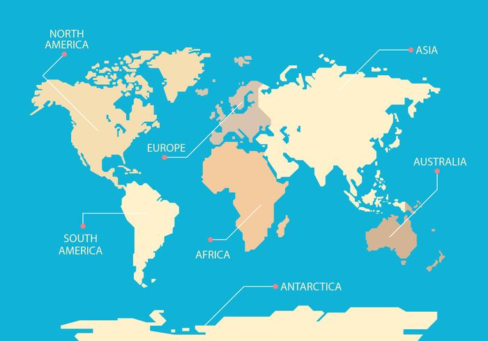 Mapa Mundi Blå Bakgrund Vector