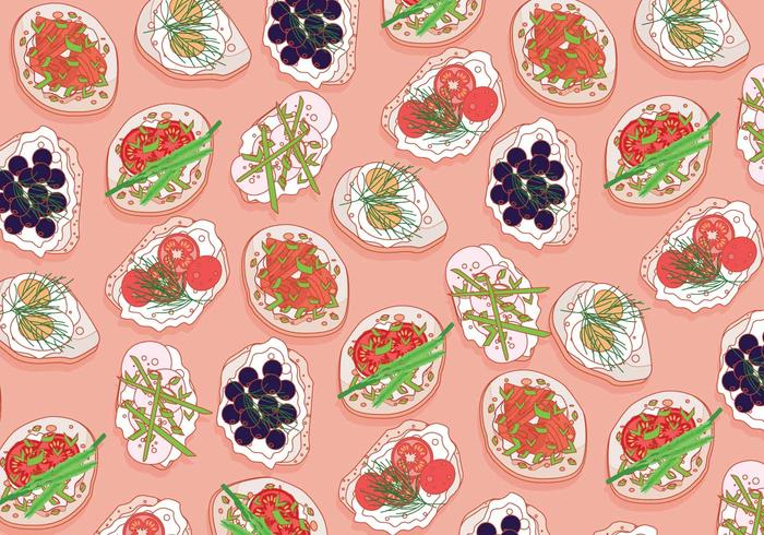 Canapes Pattern Vector