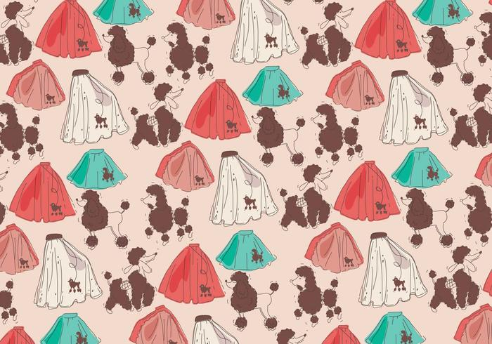 Poodle Skirt Pattern Vector