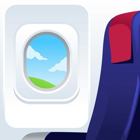 Free Plane Window Vector