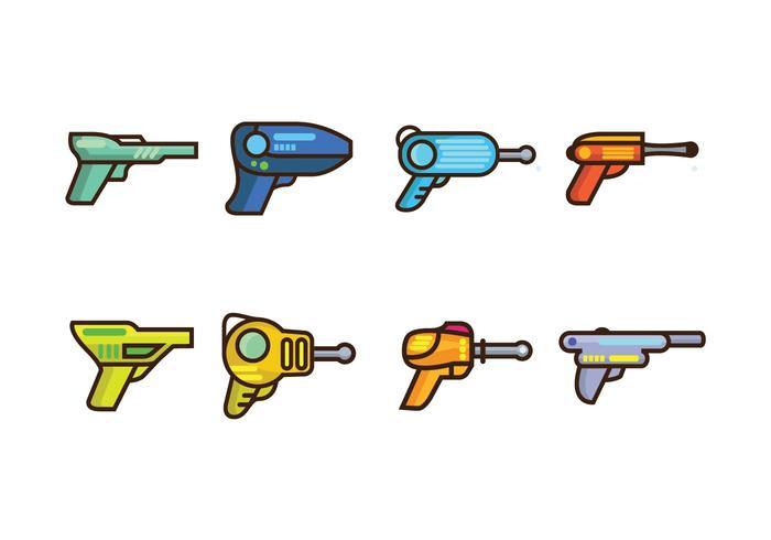 vetor de pistola a laser grátis