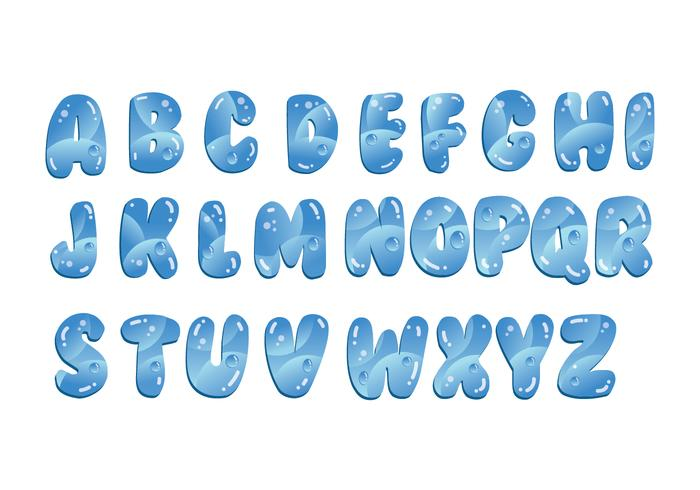 Free Water Font Type Vector