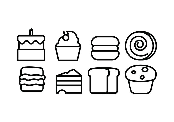 Bread and Bakery Icons vector