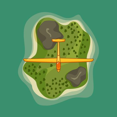 Free Vector Flying Glider Across the Island