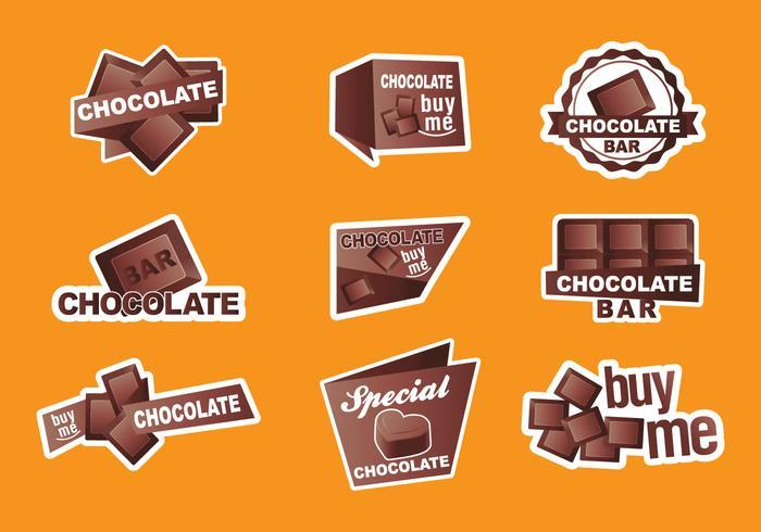 Vectores de etiqueta de chocolate