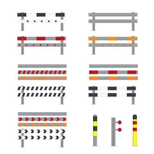 Illustration des vecteurs de garde-corps
