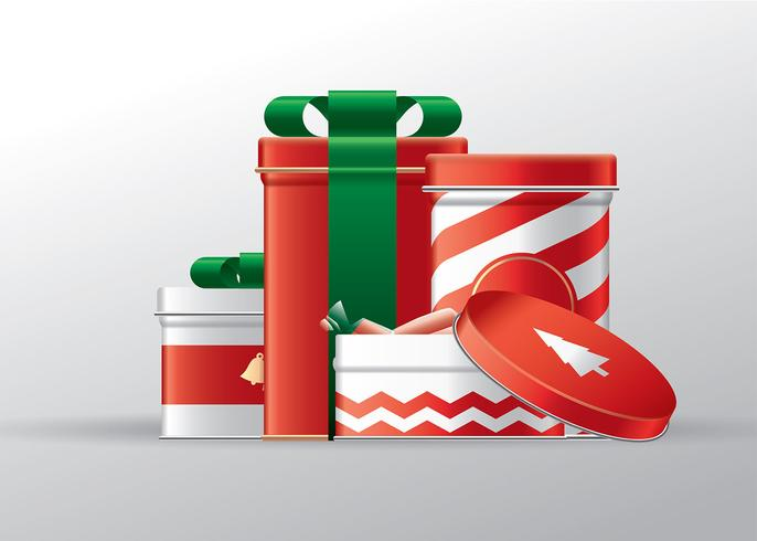 Tin Boxes Julklapp Gratis Vector