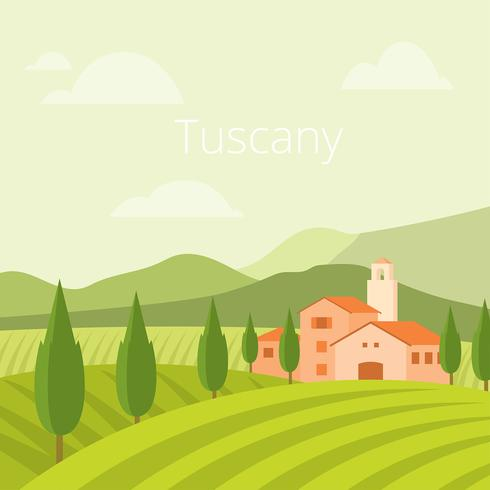 Tuscany Village Free Vector