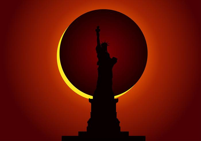 Solar Eclipse Liberty Free Vector