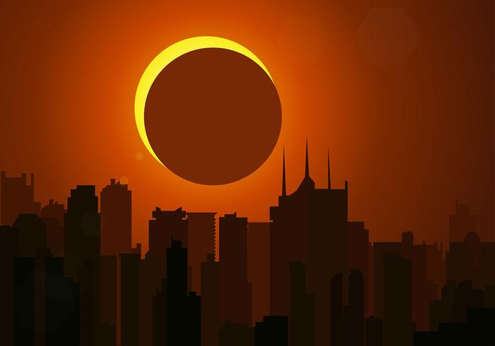 Solförmörkelse Gratis Vector