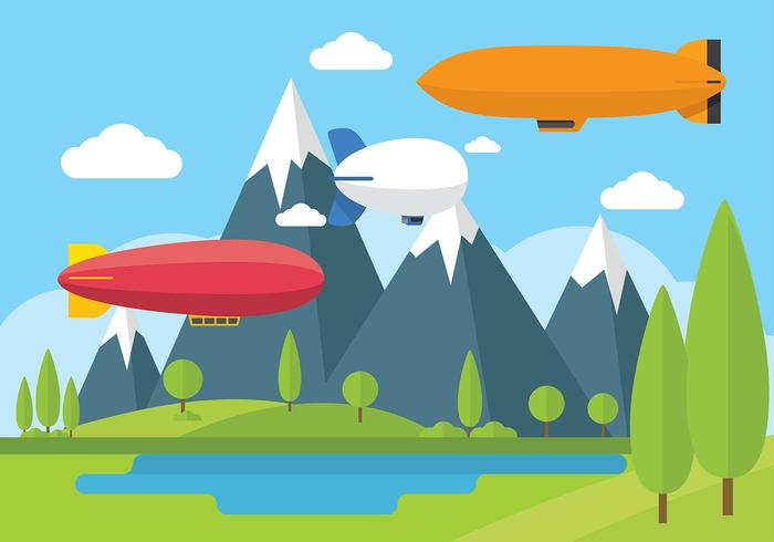 Dirigible Blimp Free Vector