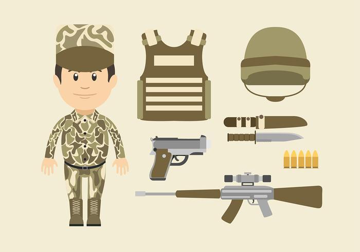 Navy Seal Cartoon Character vecteur libre