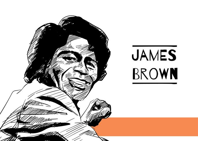 Dessinés à la main James Brown vecteur libre