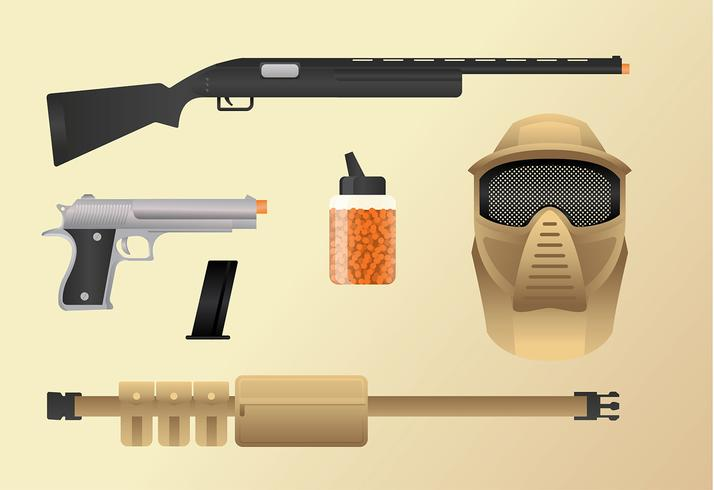 Airsoft Loadout Equipment Free Vector