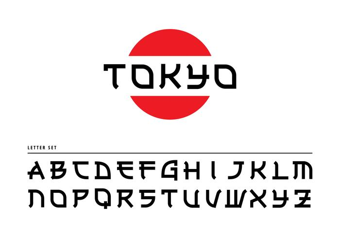 Japanesse Letters Tokyo vecteur libre