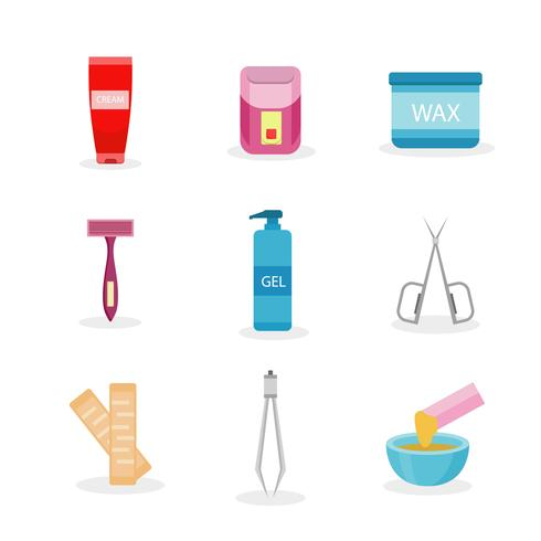 Waxing Icons Vector