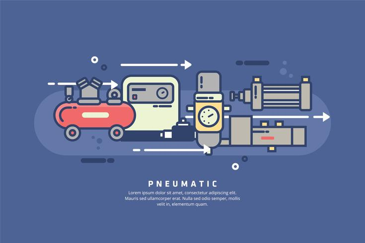 Pneumatic Illustration vector