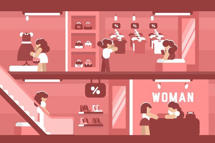 Winkelcentrum illustratie