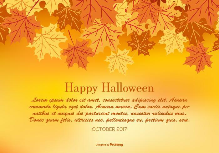 Glad Halloween hösten illustration