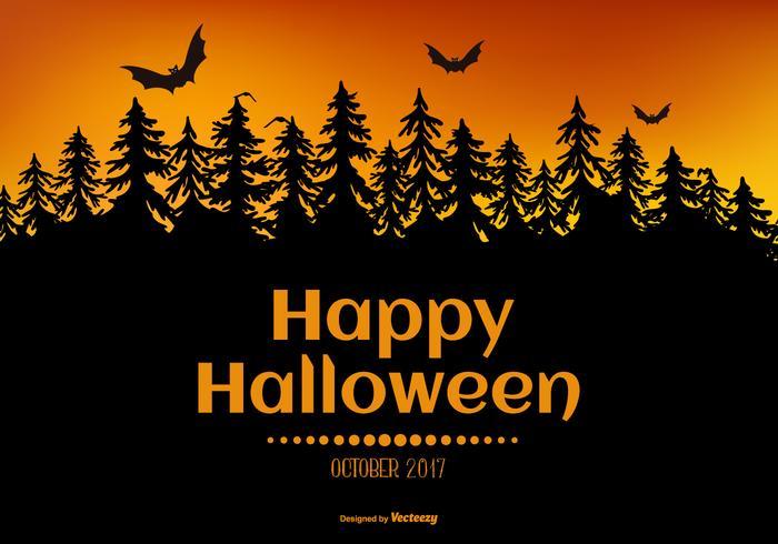 Spöklik Happy Halloween Illustration