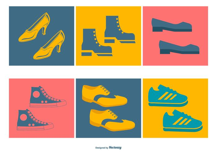 Assorted Shoes Icon Collection