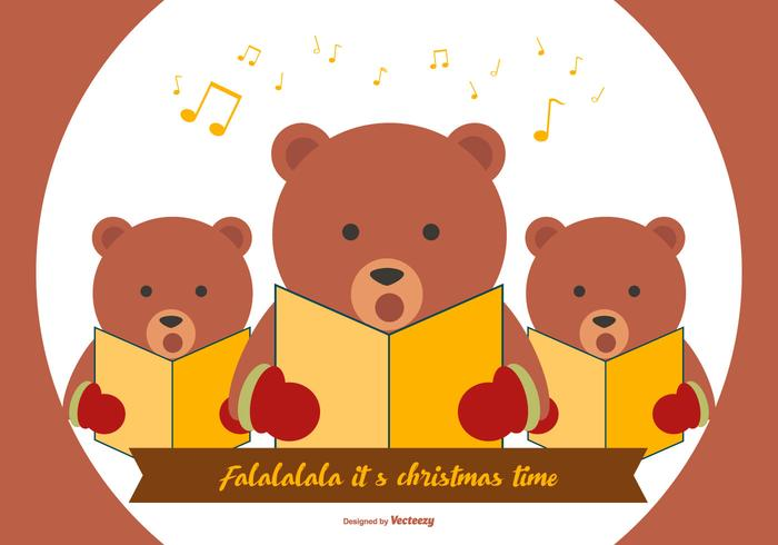Cute Bear Christmas Carolers