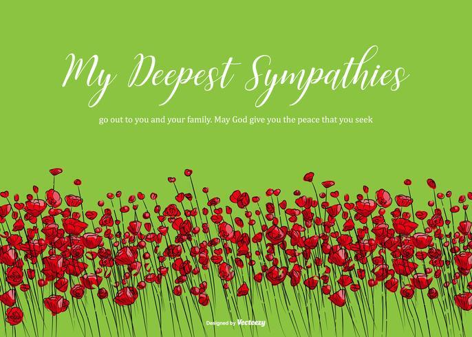 Vector Floral Condolences Card