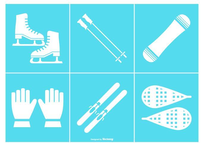 Snow Equipment Icon Collection
