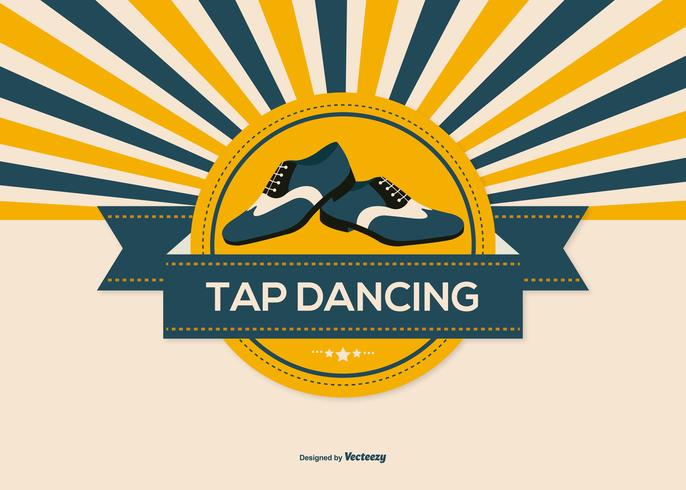 Retro Style Tap Dance Illustration vector