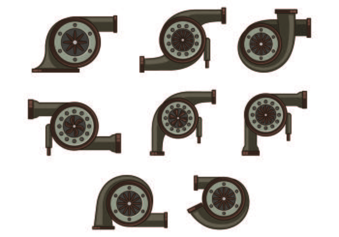 Set Of Turbocharger Icon