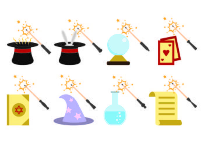 Set of Magic Stick Icon