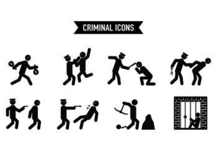 Set Of Theft Icons  vector