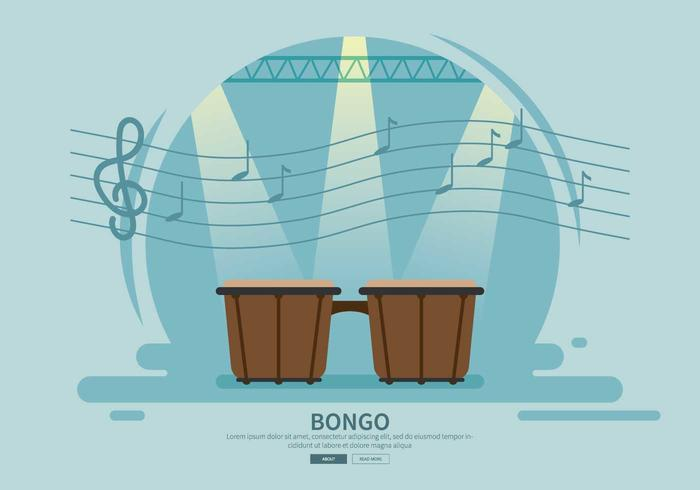 Free Bongo Drum Illustration