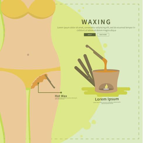 Waxing Bikini Line Illustration