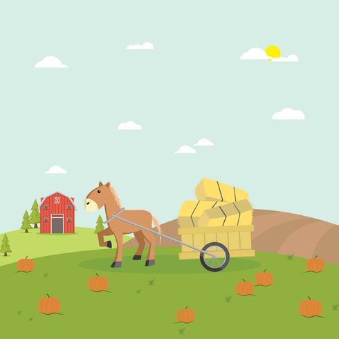 Free Hayride Illustration