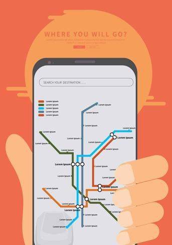 Gratis Tube Map Illustration
