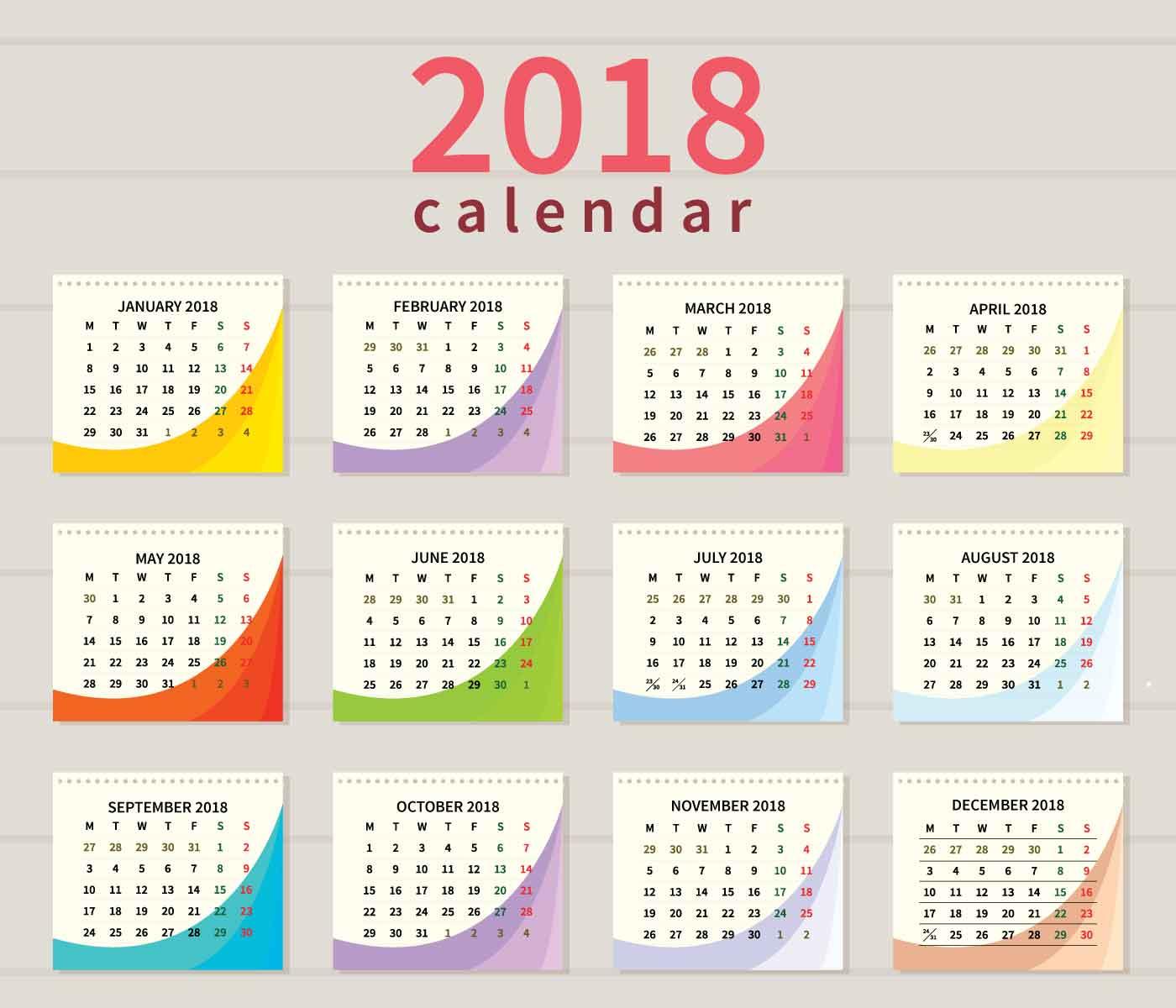 Ilustraci 243 N De Calendario Imprimible Gratis Descargue