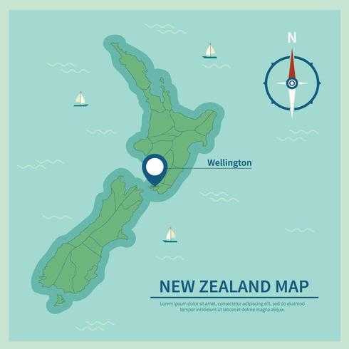 Gratis New Zealand Map Illustration