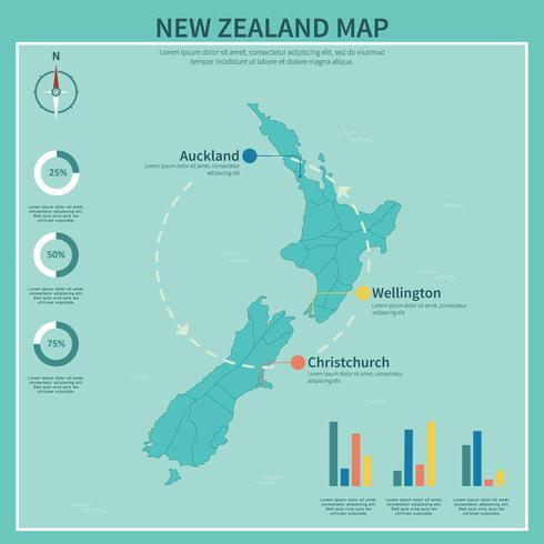 Free Blue New Zealand Maps Illustration