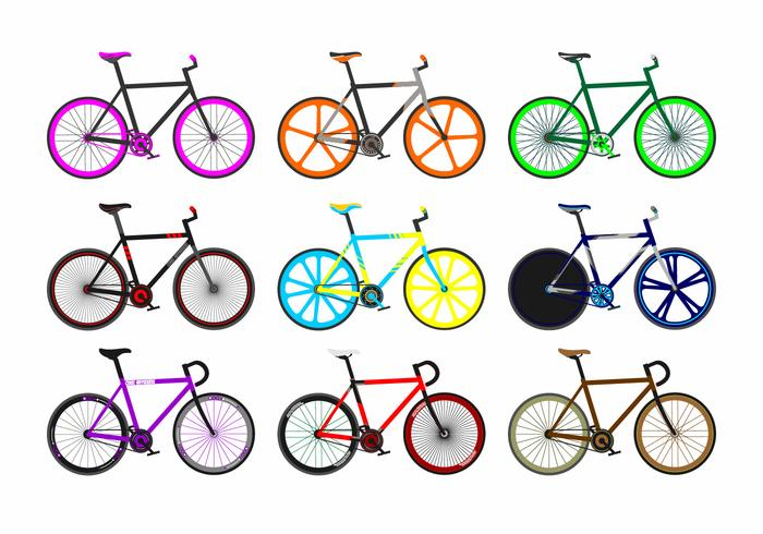vettore gratuito di fixie bike