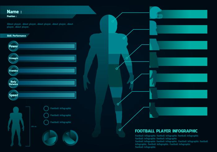 Football Player Infographic Free Vector