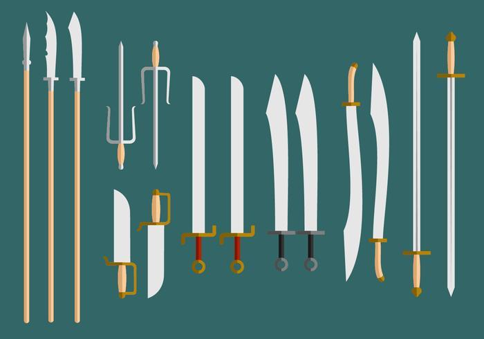 Wushu Weapons Vector