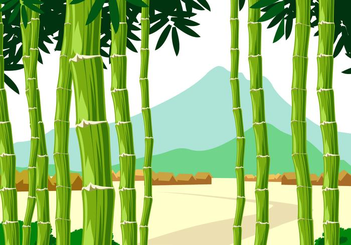 Panorama Bamboo Free Vectorr vector
