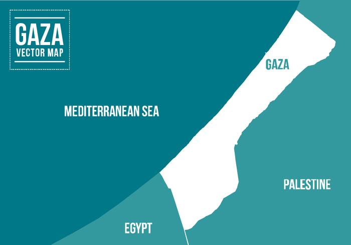 Mapa de Gaza Vector Gratis