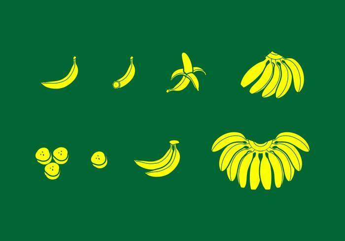 Banan Solid Icon Gratis Vector