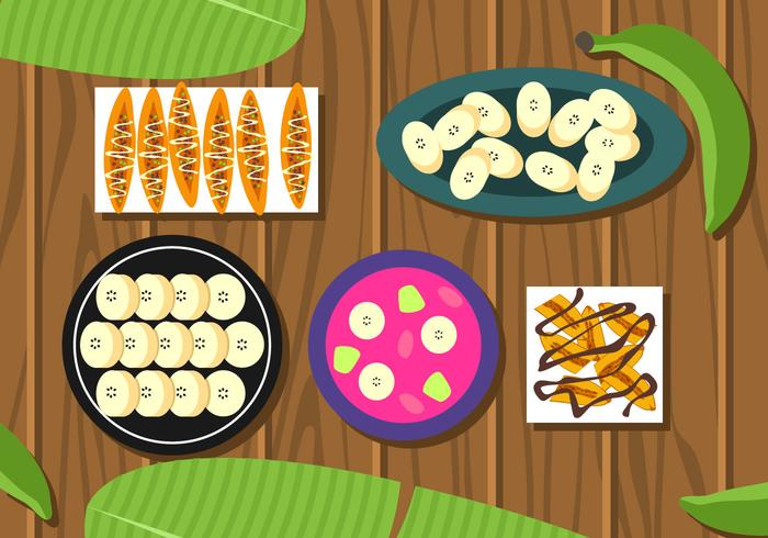Banan Plating Varianter Gratis Vector