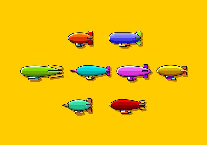 Leuke Dirigible Gratis Vector